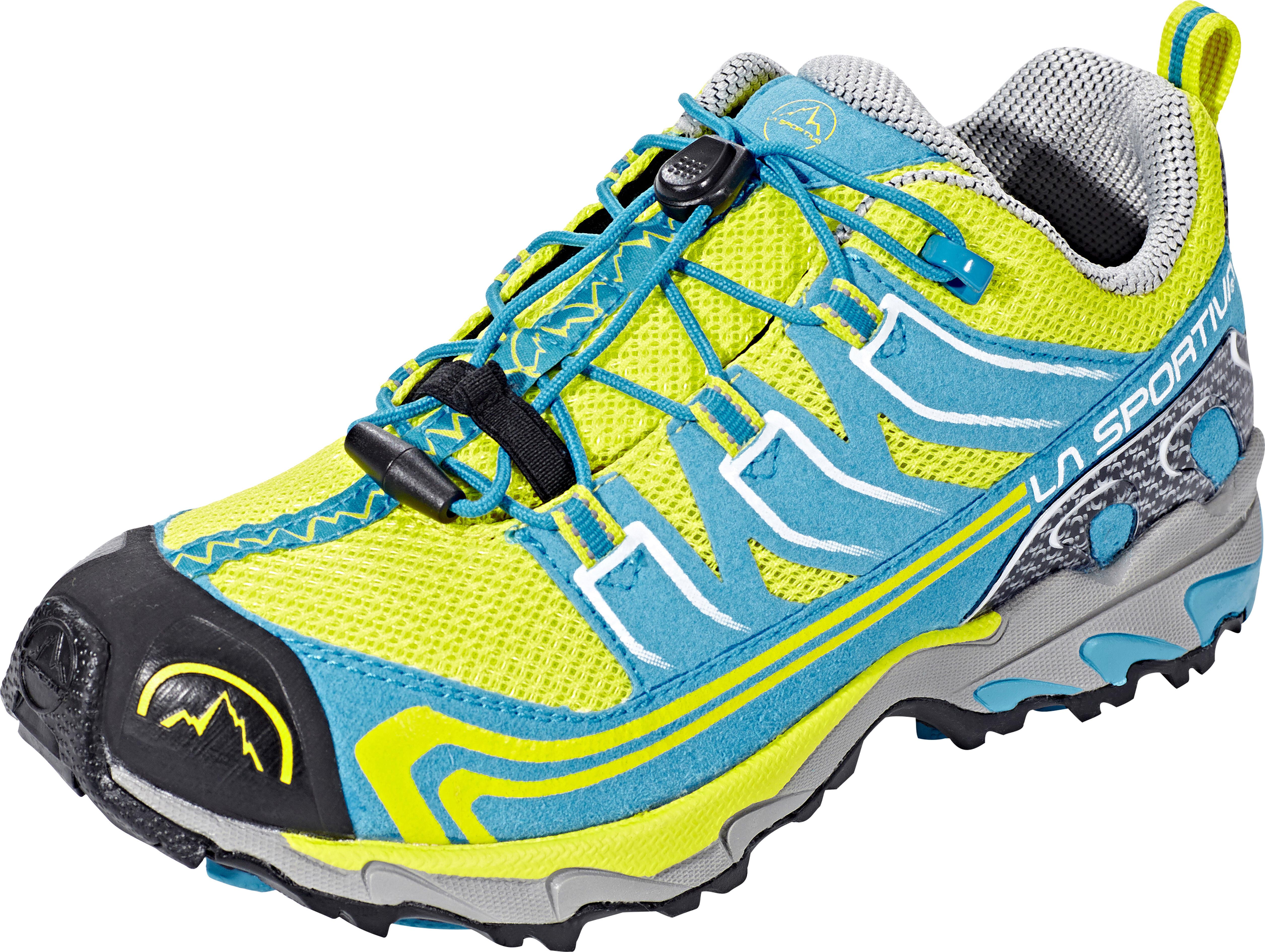 84d9905656872 La Sportiva Falkon Low - Chaussures running Enfant - jaune bleu sur ...